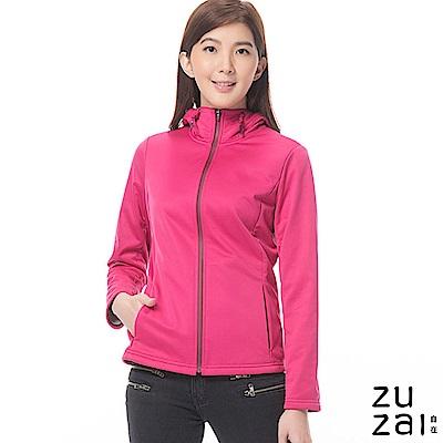 zuzai 自在卓絕連帽短版防水保暖外套-女-桃紅色