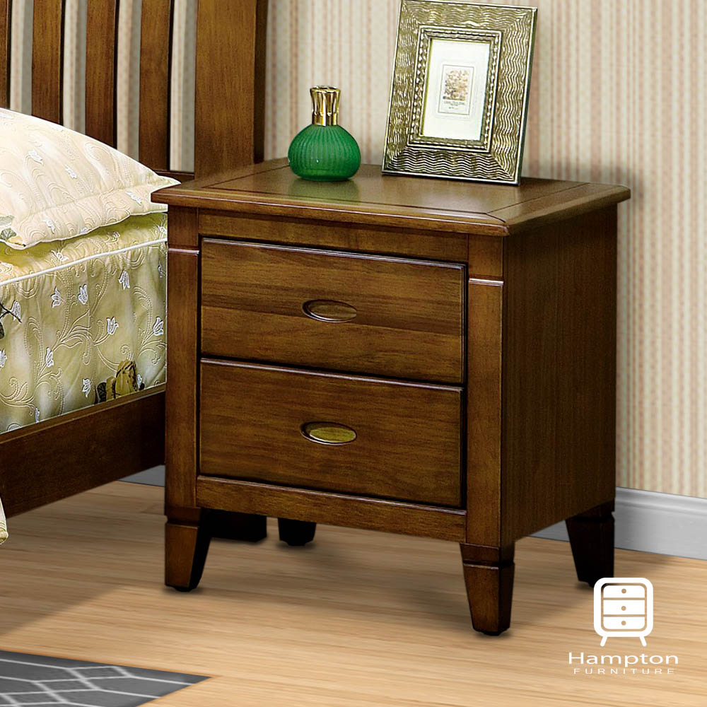 漢妮Hampton蘭卡系列黃檀實木床頭櫃-54.5x45x58cm
