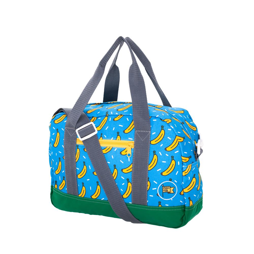 MOKUYOBI /Greyson Tote/L.A空運香蕉塗鴉旅行必備手提斜肩包-藍色