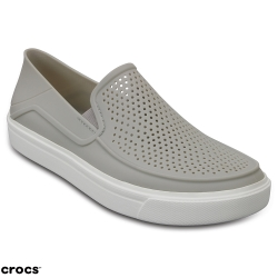 Crocs卡駱馳(女) 都會街頭洛卡便鞋-204622-101