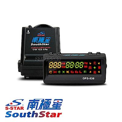 南極星 838 全彩雙顯面板 GPS衛星全頻分離式雷達測速器