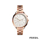 FOSSIL Q ACCOMPLICE 圓弧造型智慧手錶-玫瑰金