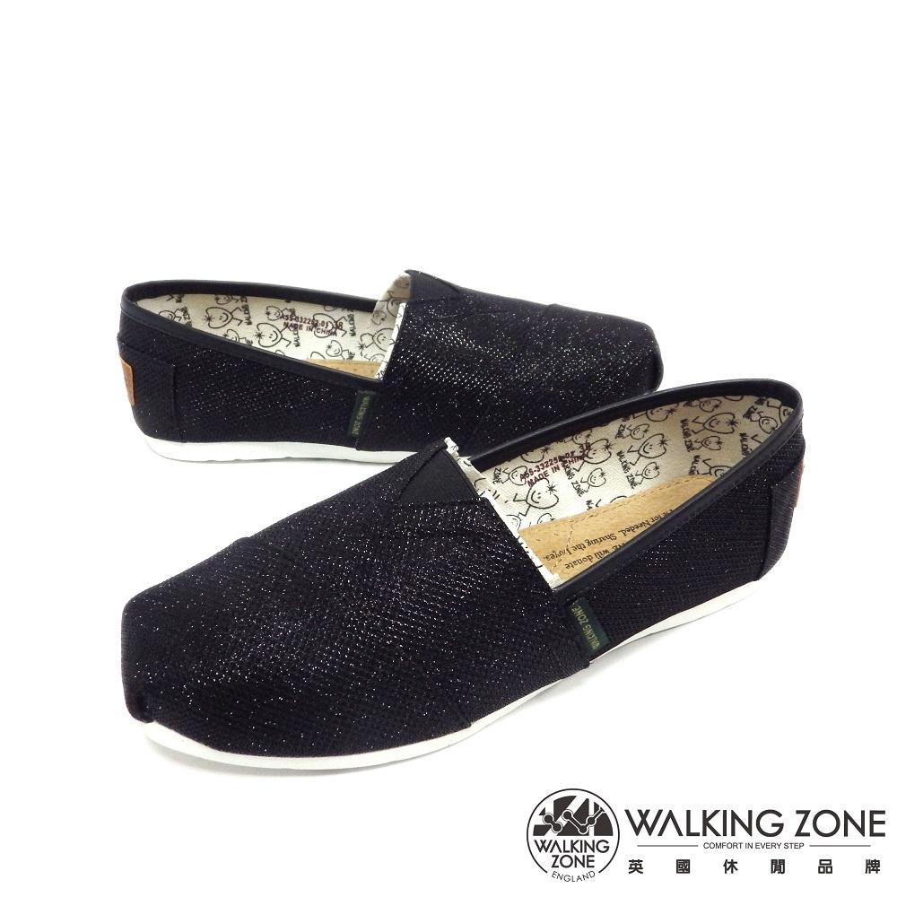 WALKING ZONE 奢華輕巧舒適國民便鞋女鞋-黑