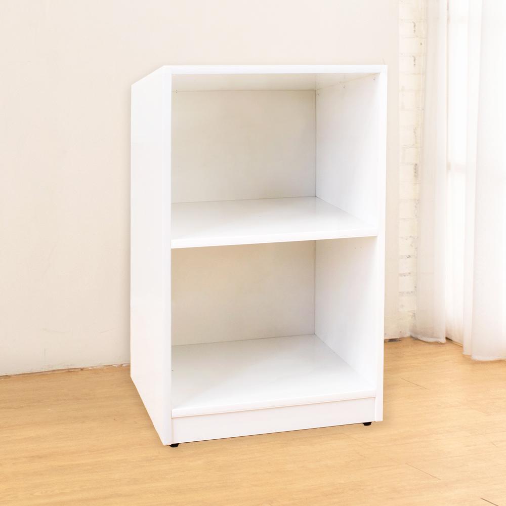 Bernice-防潮防蛀塑鋼白色二格收納櫃-43x40x71cm