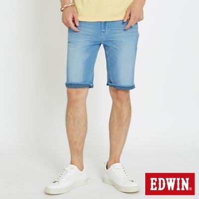 EDWIN 迦績褲JERSEYS涼感短褲-男-石洗藍