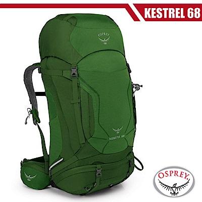 【美國 OSPREY】新款 Kestrel 68L 輕量健行登山背包(M/L)_叢林綠 R