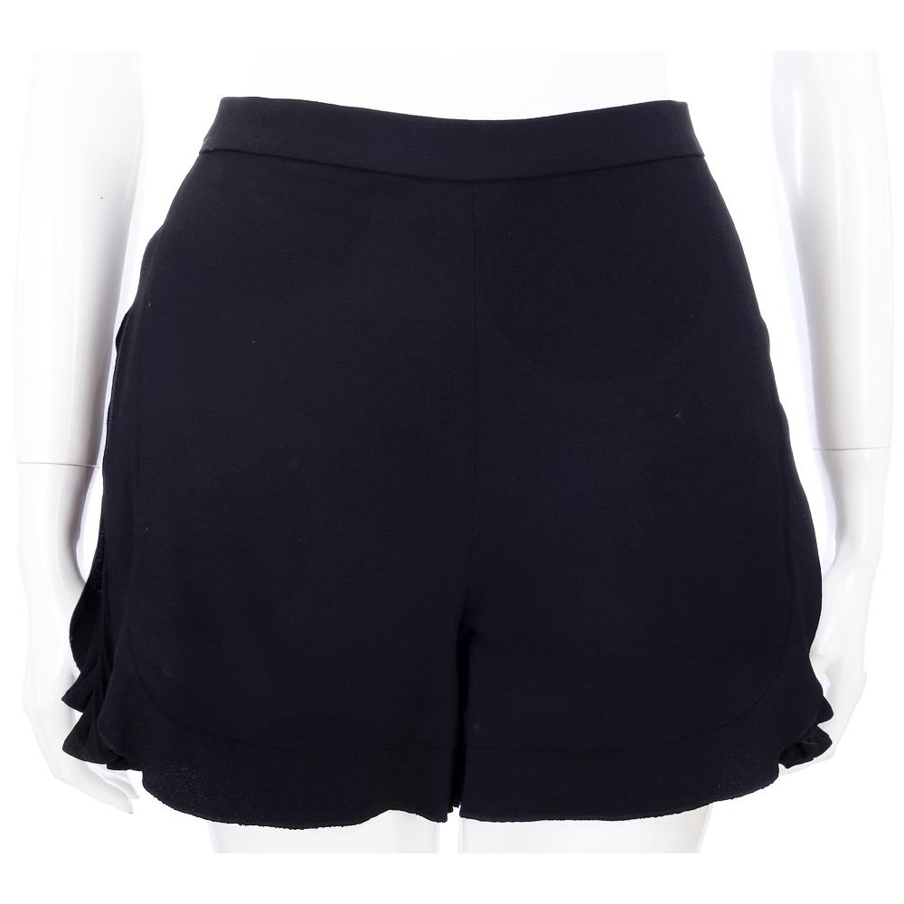 PHILOSOPHY 黑色側百褶波浪剪裁設計短褲