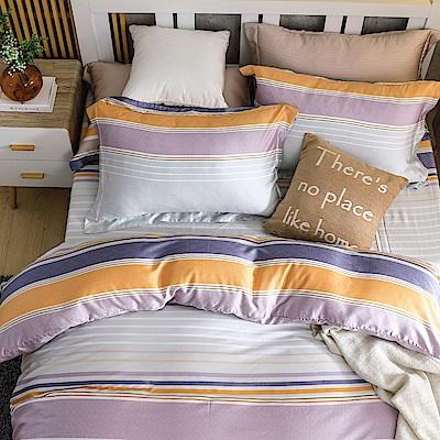 鴻宇HongYew 300織天絲 換日線 雙人特大床包枕套三件組