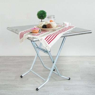 Amos-古早味長方形高腳摺疊鐵桌(W91.5 x D60 x H77 CM)