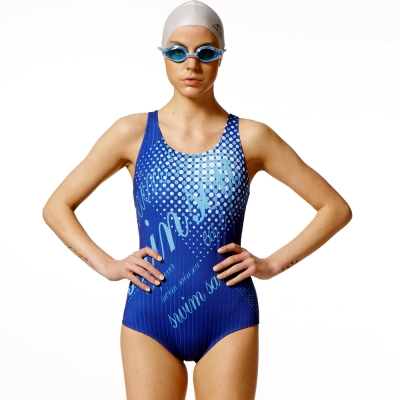 泳裝 連身式 亮點專業競賽連身女泳裝 聖手牌