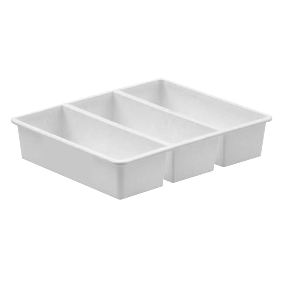 【創意達人】白事達3格萬用收納盒6入