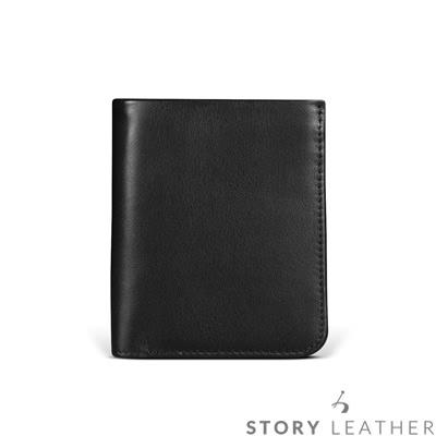 STORYLEATHER Odyssey 短夾 - 黑+烙印服務