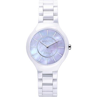RELAX TIME RT33 嶄新系列陶瓷腕錶-紫貝x白/32mm
