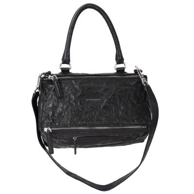 GIVENCHY Pandora 綿羊皮鞣製兩用提包(中/黑色)