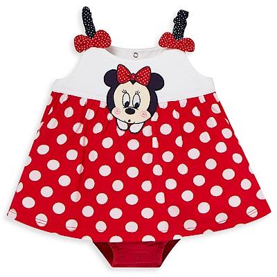 Disney baby米妮系列經典圓點細肩帶包屁衣 (2色可選)