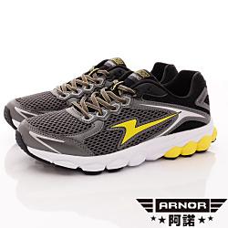 ARNOR-全方位避震鞋款-SE3214黃鋼鐵灰(男段)