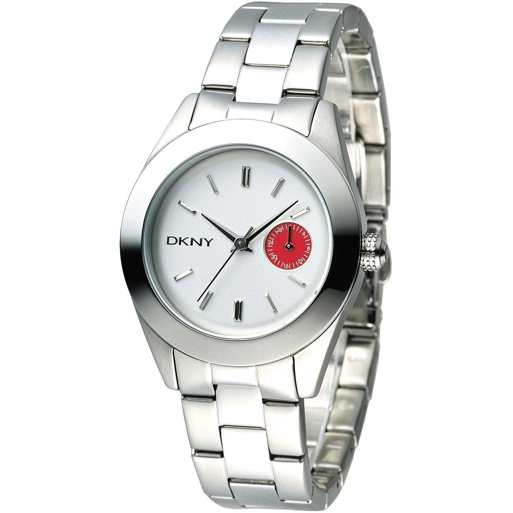 DKNY 紅心皇后時尚女錶(NY2131)-銀白/36mm