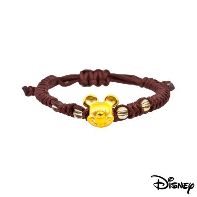 Disney迪士尼金飾 夢想米奇黃金中國繩手鍊-品味咖