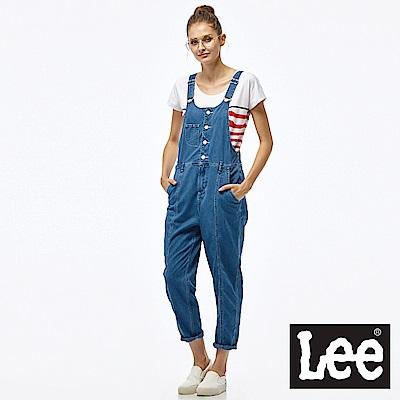 Lee 涼感Jade Fusion牛仔吊帶長褲-女款-淺藍