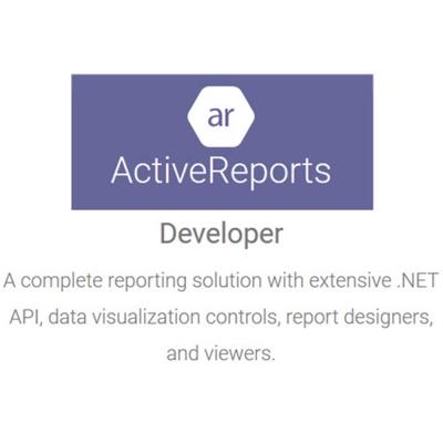 ActiveReports Standard標準版 單機授權 (下載)