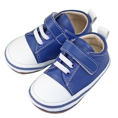 Swan天鵝童鞋-雙色拼接休閒學步鞋1548-藍