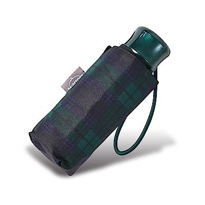 RAINSTORY藍綠格紋抗UV迷你口袋傘