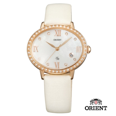 ORIENT 東方錶 LADY ROSE 橢圓女錶-珍珠貝x玫瑰金/36mm