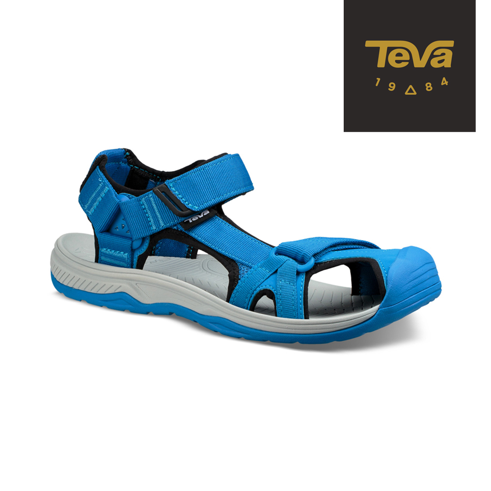 TEVA 美國 男 Hurricane Toe Pro 護趾水陸機能涼鞋 電光藍