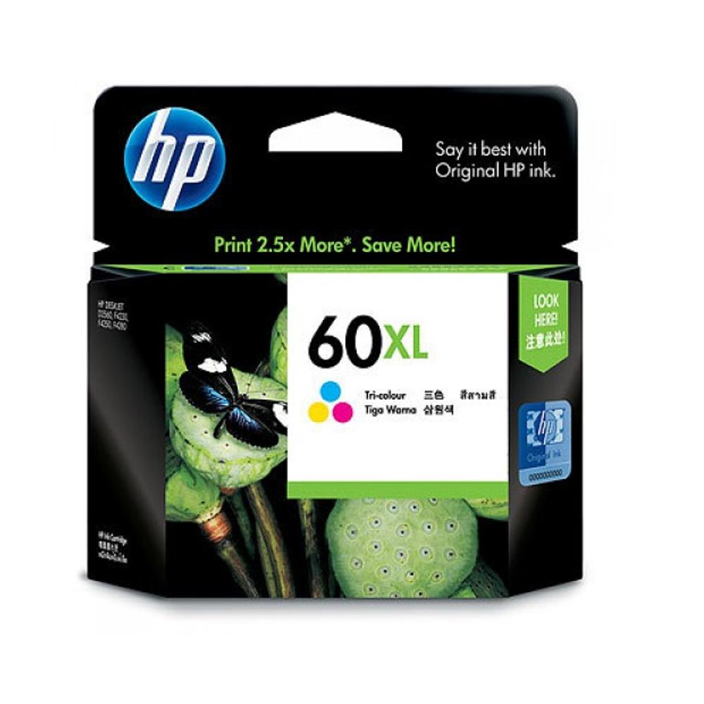 HP   60XL彩色墨水匣CC644WA