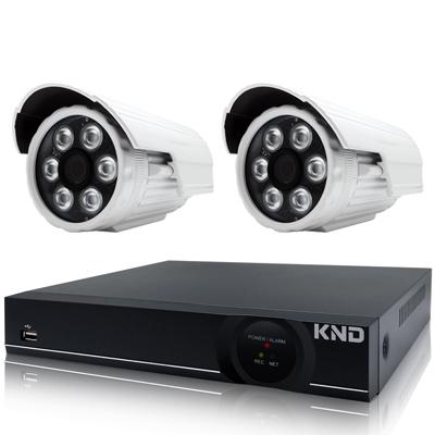 奇巧  4 路AHD正 1080 P台製單硬碟款主機-含SONY  200 萬攝影機x 2