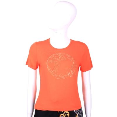 VERSACE 橘色梅杜莎LOGO短袖T恤