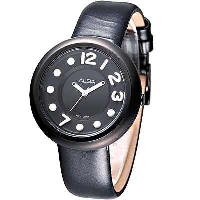 ALBA 炫采美少女時尚腕錶-黑(AH8099X1)/38mm 保固二年