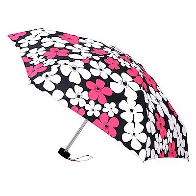 2mm Mini輕巧五折晴雨口袋手開傘 (白桃花朵)