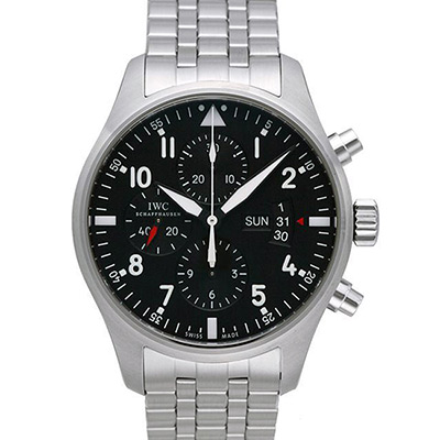 IWC 萬國 Pilot 飛行員機械計時鍊帶腕錶(IW377704)-43mm