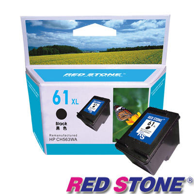 RED STONE for HP CH563WA(黑色)NO.61XL高容量環保墨水匣