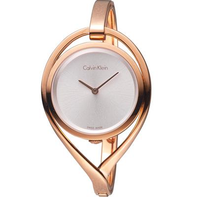 Calvin Klein light 精巧系列 復刻回憶時尚腕錶-玫瑰金色/33mm(M)