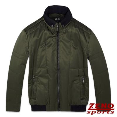 ZENO 鋪棉外套保暖韓風潮流款‧軍綠