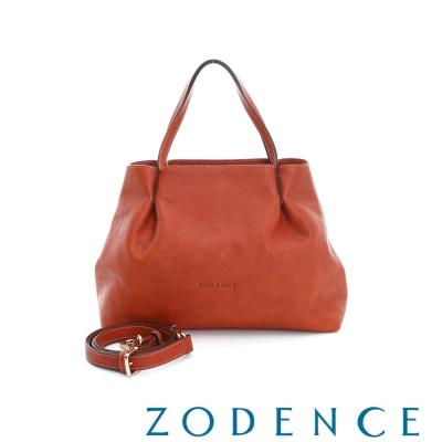 ZODENCE-義大利質鞣革系列摺紋玳瑁包