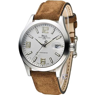 BALL 波爾 Engineer II 機械腕錶-白/淺咖/40mm