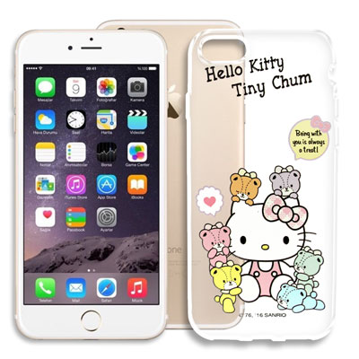Hello Kitty iPhone 8/iPhone 7 浮雕彩繪透明軟殼(熊...