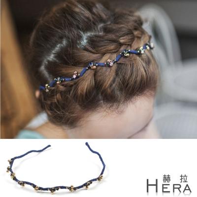 Hera 赫拉 彩鑽珠珠波浪形頭箍/髮箍
