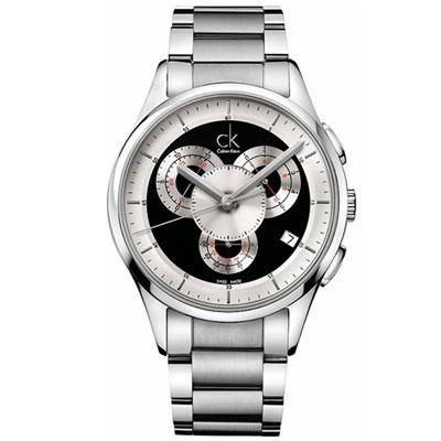 cK Basic 四環造型競速計時腕錶-黑/43mm