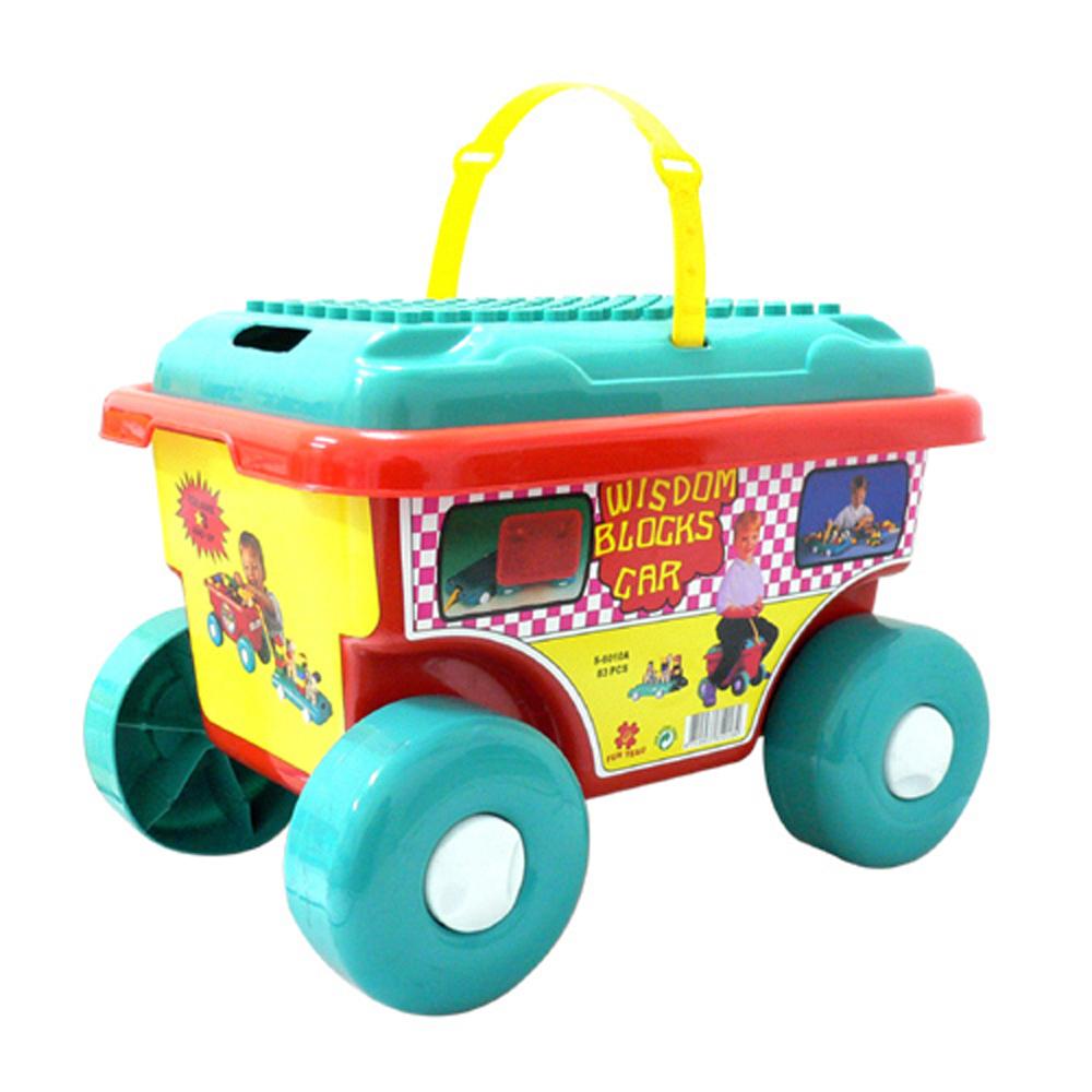 小嘟嘟創意積木車~83 大片裝~台灣生產喔