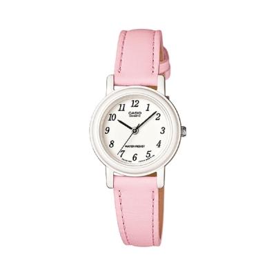 CASIO 馬卡龍甜心魅力皮帶腕錶(LQ-139L-4B1)-粉嫩紅/26mm
