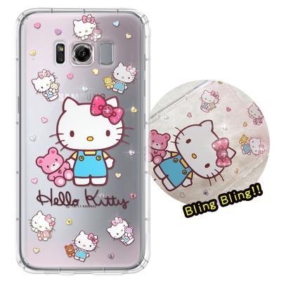 正版凱蒂貓 Samsung S8+ / S8 Plus 彩鑽氣墊手機殼(愛戀小熊...