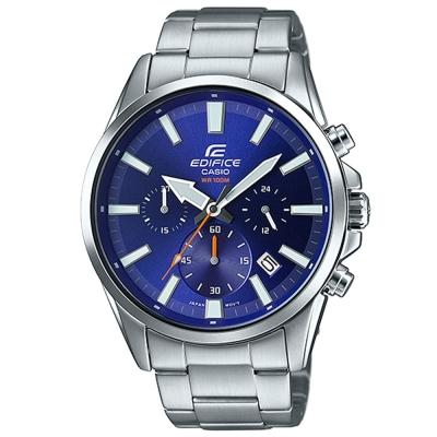 EDIFICE-經典三眼時刻大錶面時尚腕錶-EFV