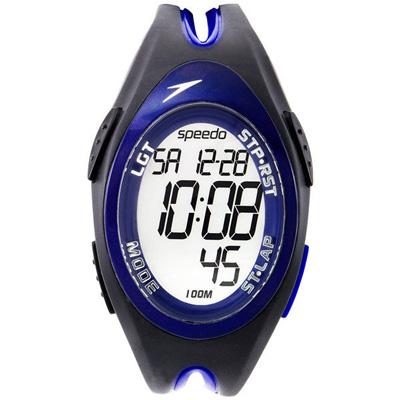 Speedo 驚震時刻電子腕錶-藍/38mm