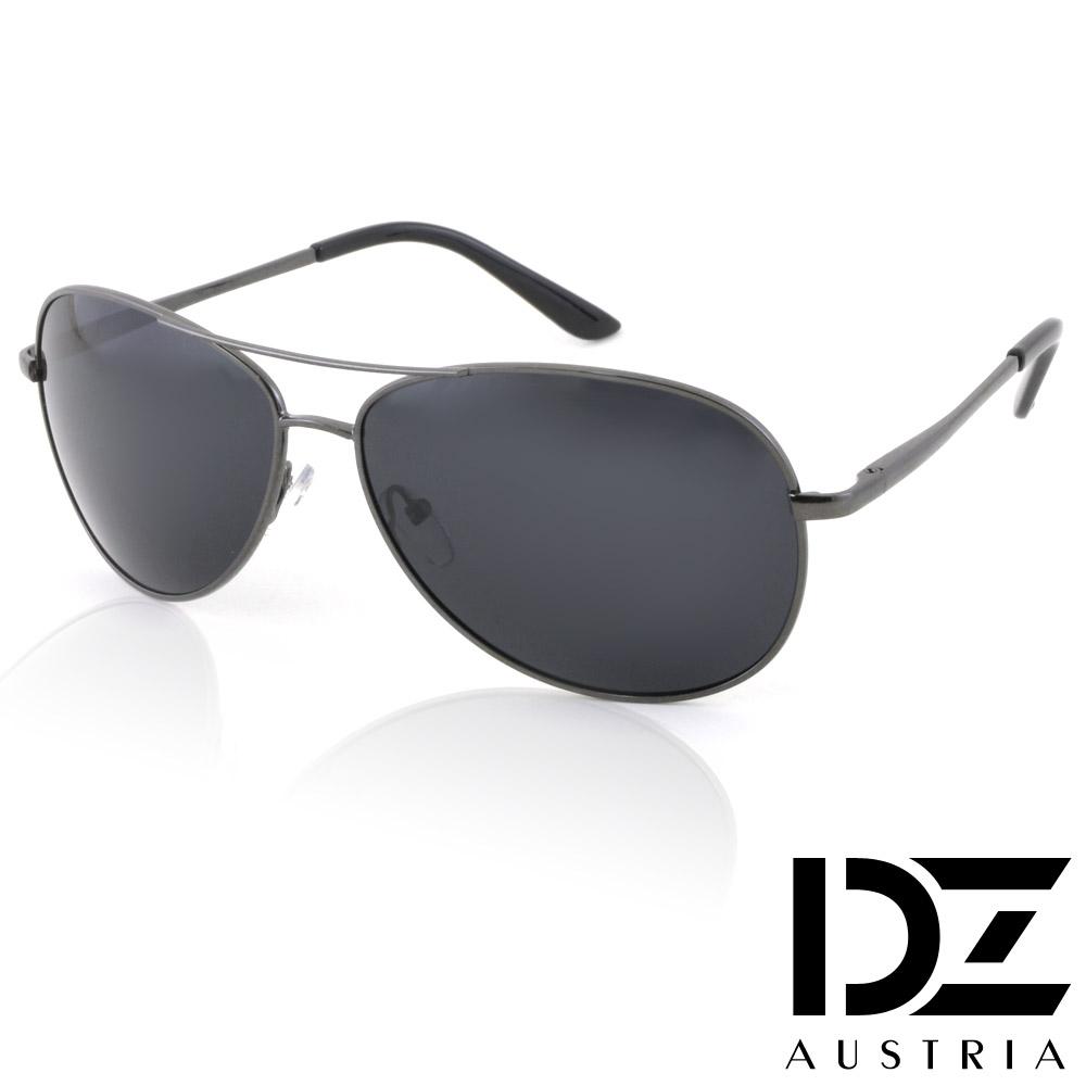 【滿千69折】DZ 克雷孟特 抗UV 偏光 太陽眼鏡墨鏡(黑-槍灰框)