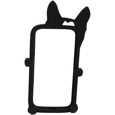 M.B.M.J Olive Rail 狗造型矽膠Samsung Galaxy手機殼(黑色)