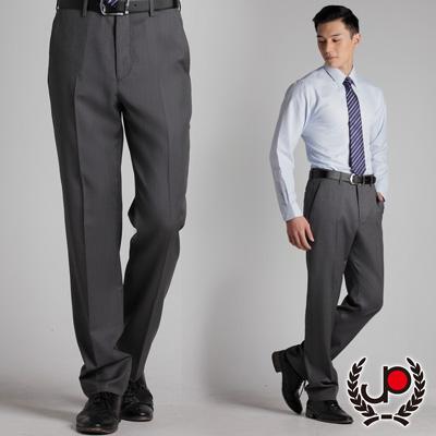 極品西服-質感高雅.混紡羊毛平面西裝褲_淺灰條(BS313-<b>1</b>)